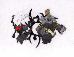 darkrai and dusknoir by mariot4747