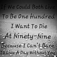 I Can't Bare To Live A Day Without You by RockyRoxas13