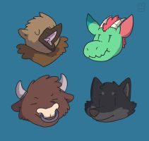 Mythical Heads by go-ccart