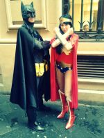 Batman e Wonder Woman Cosplay by Mcjustwannahavefun