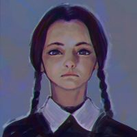 Wednesday Addams sketch by Kuvshinov-Ilya