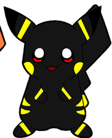 Bumble Bee the Umbreon Pikachu by dogo987