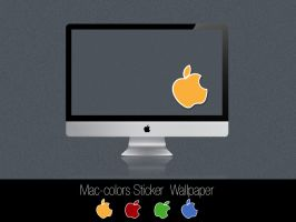 Mac-colors Sticker wallpaper by Mr-JC