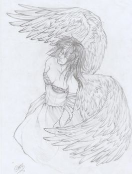 angel on the paper by giuli-anna