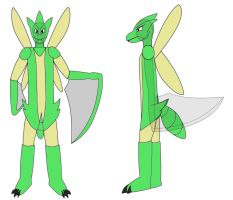 Scyther costume design by BladeTiger