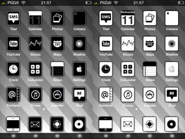 Black and White iPhone Themes by Plizzo
