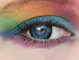 Rainbow eye stock by EliseEnchanted