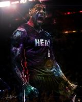 LeBron James - Flaming Galaxy by idmt23