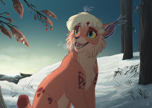 Commission | Winter morning by OwlCoat