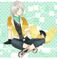 Hope and Chocobo by DeviCaity