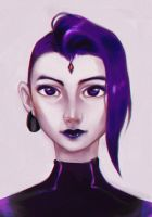Raven Portrait by Glory-Day