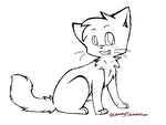 Kitten - Lineart by Snow-Berries