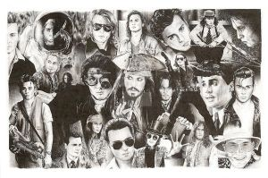 Johnny Depp by charliedonkinart