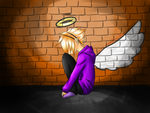Lonely Angel by UndeadL-No