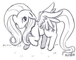 A fluttershy...if..thats..ok...of course by elenawing