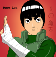 Rock Lee Shippuuden Color by PrinzessinVegeta