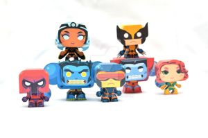 Mini X-men Papercraft by henrydig