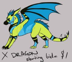 Point/Cash Adoptable X Dragon CLOSED by meroaw