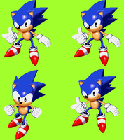 Sonic Time Twisted Title Screen Sonic by Overxbound