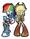 Rainbow Dash and Applejack by rvceric