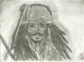 Captain Jack Sparrow drawing by SuperNikolai1996