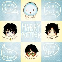 Happy Harry Potter set by Black-Quose