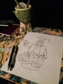 Hand Solo Tattoo Design by sampson1721