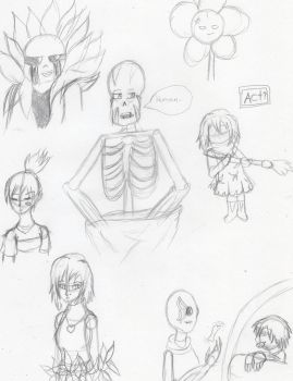 Papyrus' Human Servant doodles 2 by kakashisgirlfighter