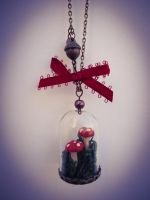 Mushroom Necklace by sweetmildred