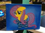 Fluttershy in socks stencil by Steven304