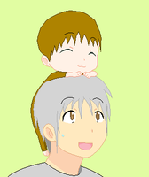 Baby Rex and his dad by Chidori1334