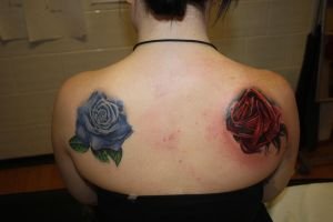 live and dead roses by SimplyTattoo