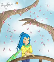 Falling Blossoms by Neon-Fizz