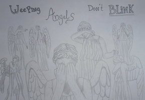 The forest of Weeping Angels by ponyhallo1