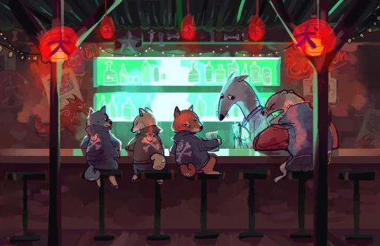 Doggy Dive Bar by Bedupolker