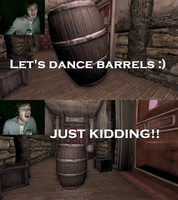 Pewdie dancing with...BARRELS!? by arashidaisuki