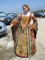 Elizabethan Upperclass Merchant's Dress (Stage 1) by AngelOfHalloween
