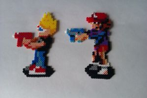 Zombies Ate My Neighbours bead sprites by CharlesonofCharles