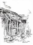 Sketch of a village of China by FineLittleFay