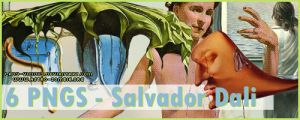 6 Salvador Dali Paintings PNG by lady-vicious