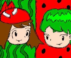 may and drew-watermelon by anime-lover05