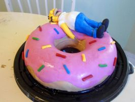 Simpsons Cake by PnJLover