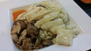 Hainanese Steamed Chicken Rice by nosugarjustanger