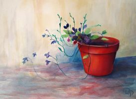 Flower in pot by diana-0421