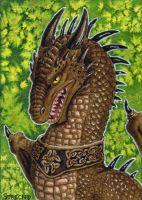 ACEO The Celtic Dragon by Strecno