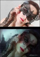 Before After Beautifully Gothic by Phatpuppyart-Studios