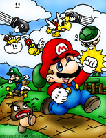 super mario bros by Nintendrawer