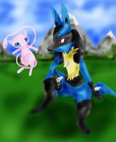 Mystery of Lucario and Mew by WinterIceFox