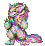 Confetti Critter (Paintie 4 Sale) by JohnEgbirb