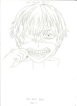 Ken Kaneki (Pencil Sketch) by arkrilik2000